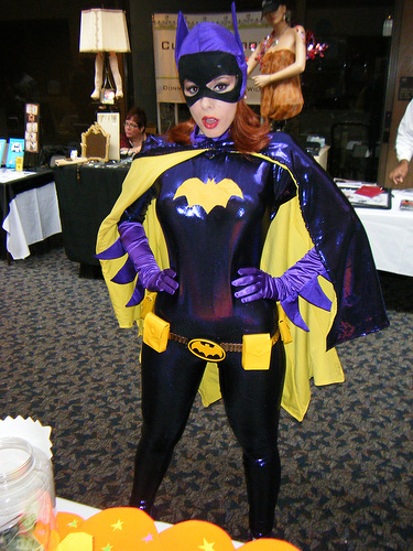 bat girl with cape costume