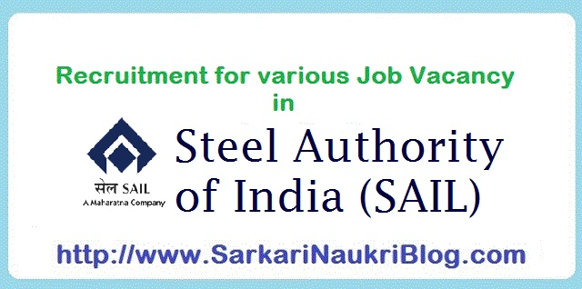 Naukri Vacancy Recruitment SAIL