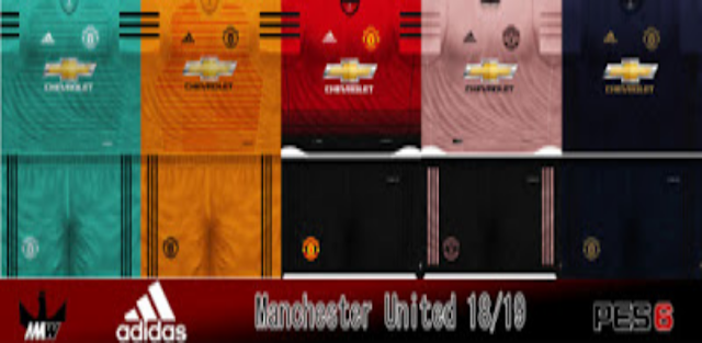 Manchester United 2018/19 Kits - PES 6