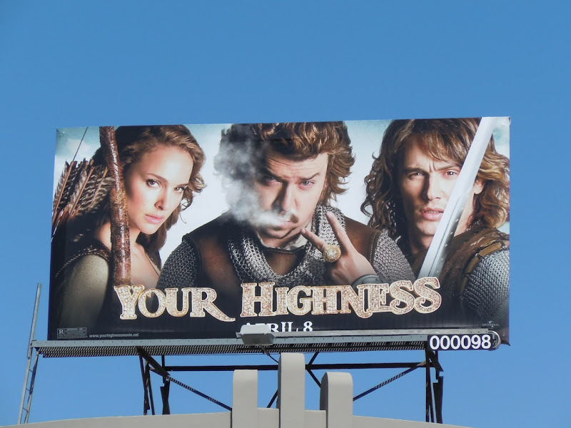 Your Highness movie billboard