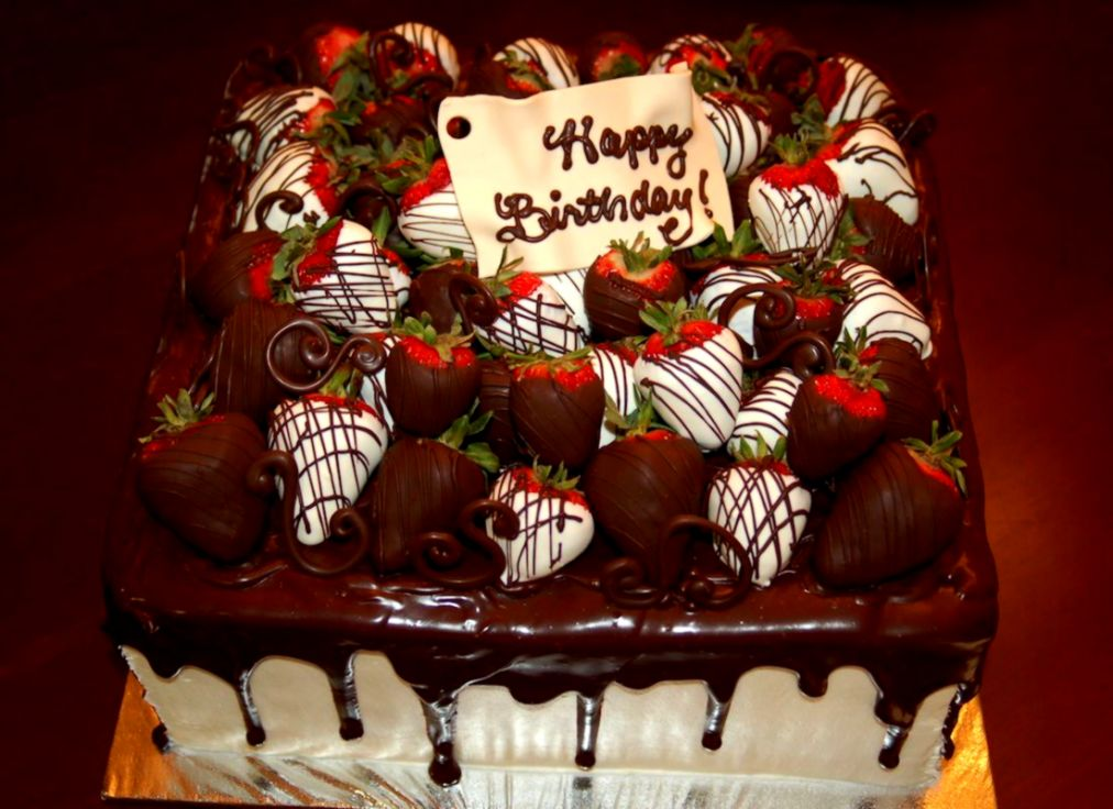 Chocolate Birthday Cakes With Strawberries Google Search