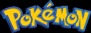 Logo con el texto Pokémon. Letras rellenas en amarillo con borde azul