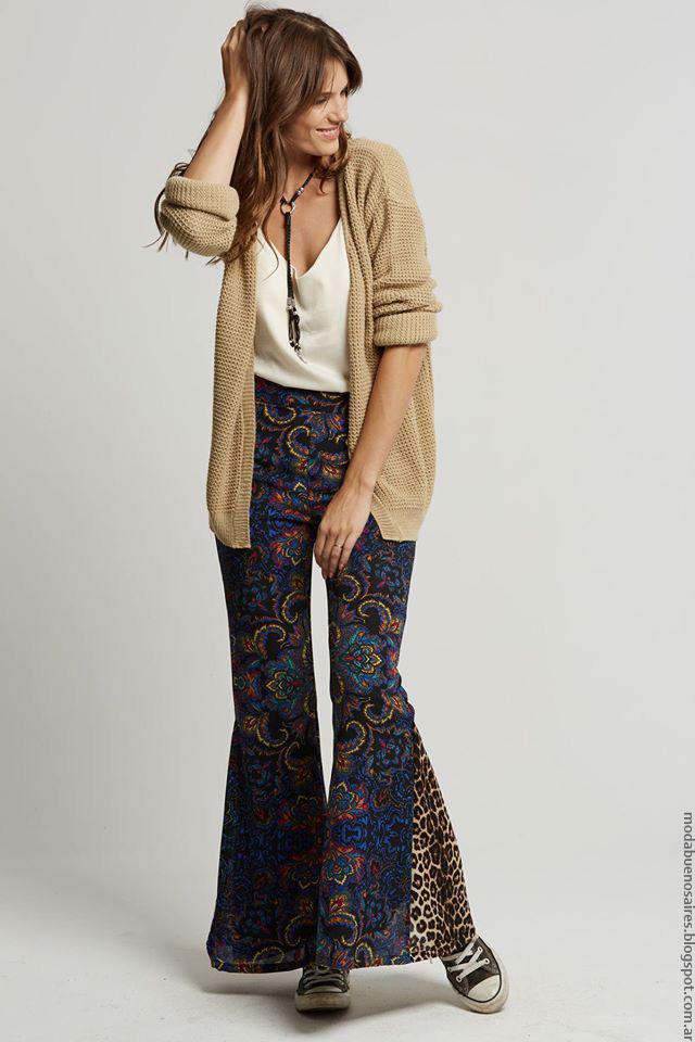Moda invierno 2016 ropa de mujer palazzos Doll Store.