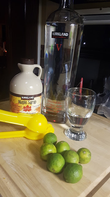 Canadian Margarita Vodka, Key Lime and Maple Syrup