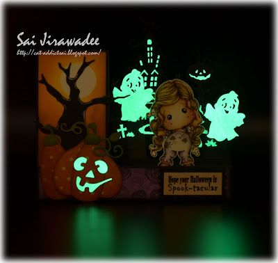 Glow in the Dark Halloween Step Card