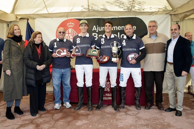 Joaquín Castellví, Christian Staubach, Manuel López y Miguel Amieva del Almasanta, ganadores del Ciutat de Barcelona de Polo.