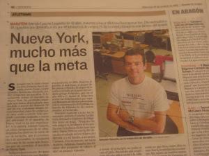 Antonio Gascón, Toñín,  New York , carrera, maratón, Zaragoza