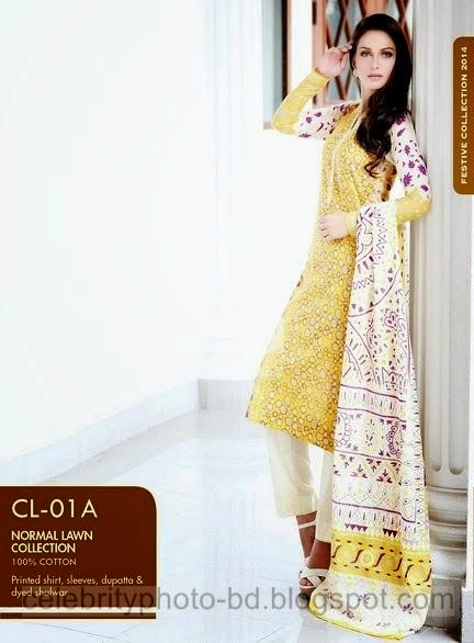 Normal Lawn Collection For Stylish Girls from Gul Ahmed Eid Festive Collection 2014-2015