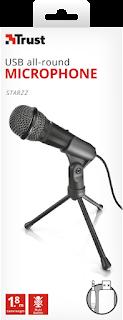 microfono trust starzz usb 21993