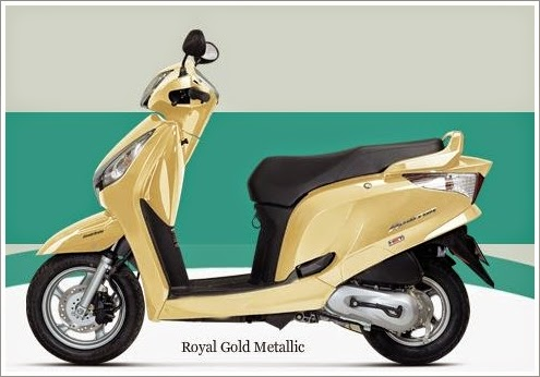 Honda Aviator Gold Metallic Color
