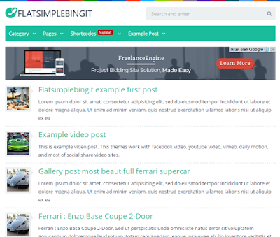 Download Theme Flatsimplebingit Gratis