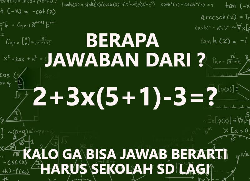 Soal Teka Teki Matematika