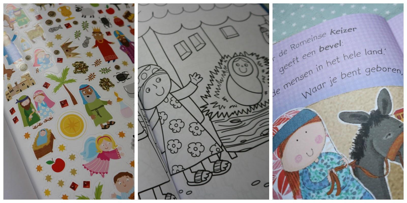 Kleurplaten Kerststal Maken.Mijn Kerst Knutselboek Mamaminke Nl
