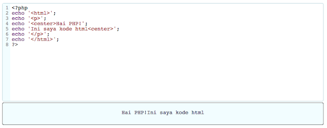 Output Script PHP