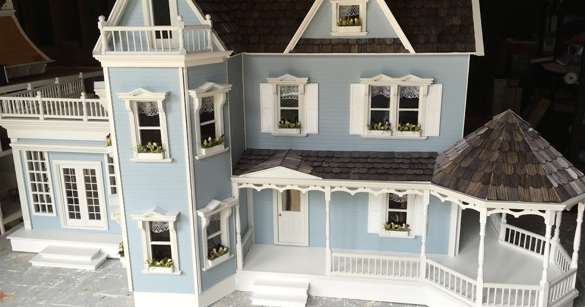 Little Darlings Dollhouses Custom Finished Harborside Mansion