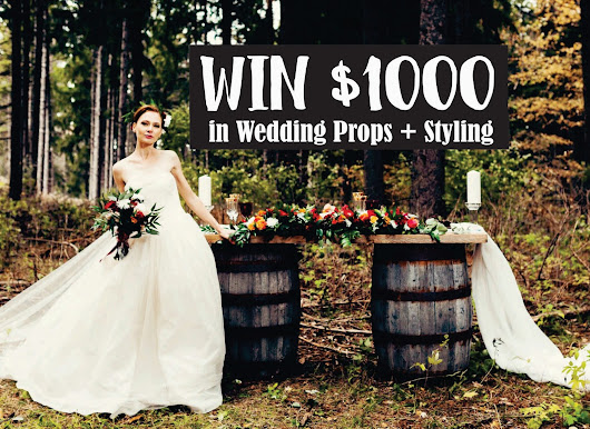 Wasaga Beach Wedding Rentals - CONTEST - WIN $1000 in wedding props + styling for your Special Day - Wedding Contest