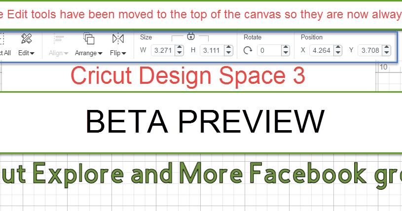 The Non-Crafty Crafter: CRICUT: Design Space 3 Beta Previews