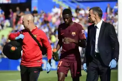Dembele Injured In First Barca League Start