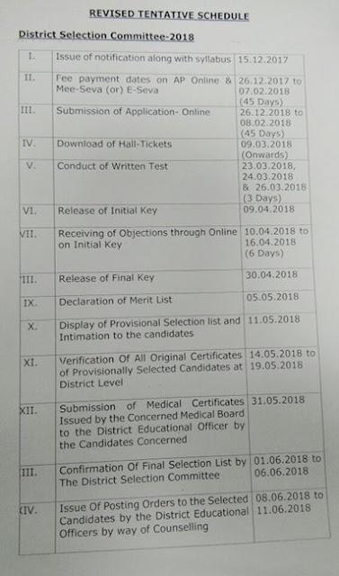 AP DSC Schedule 2017-2018