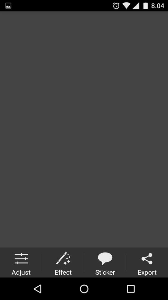 Cara membuat kanvas transparan dengan PicSay pada Android