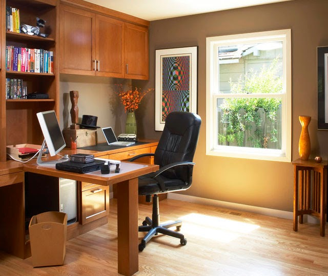 Home Beautiful Decor: Beautiful Home Office Organization