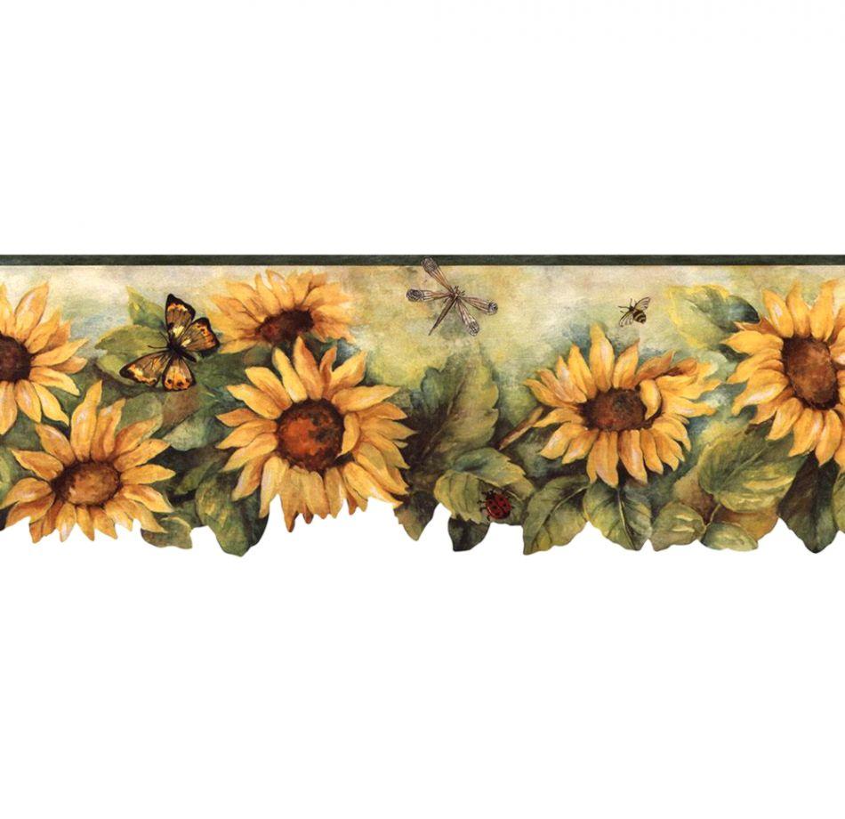 Sunflower Wallpaper Border Wallpapers Desk