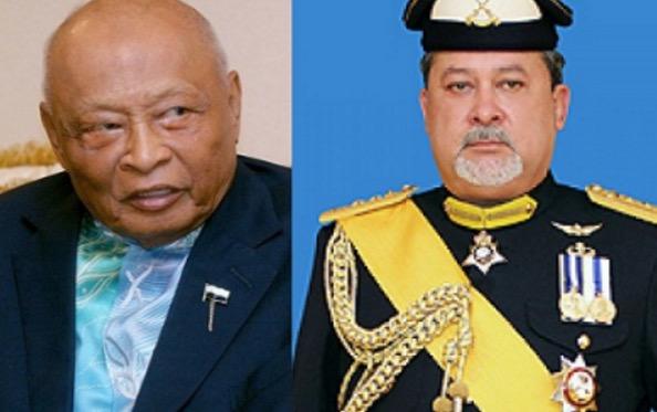Sultan Johor Salam Cium Tangan Sultan Pahang