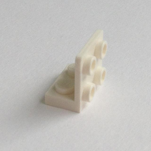 99207 NEW Medium Stone Grey 10 Inverted Bracket Angle Plate1x2//2x2 Lego