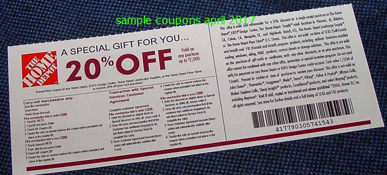 Home depot coupon discount