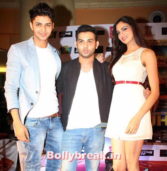 Siddharth Gupta, Simran Kaur Mundi and Ashish Juneja, Simran Kaur Mundi sizzles in White Dress at Kuku Mathur Ki Jhand Ho Gayi Promotion