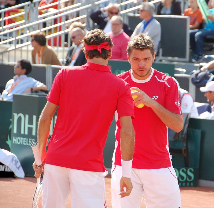 Roger Federer and Stanislas Wawrinka • Tennis Players
