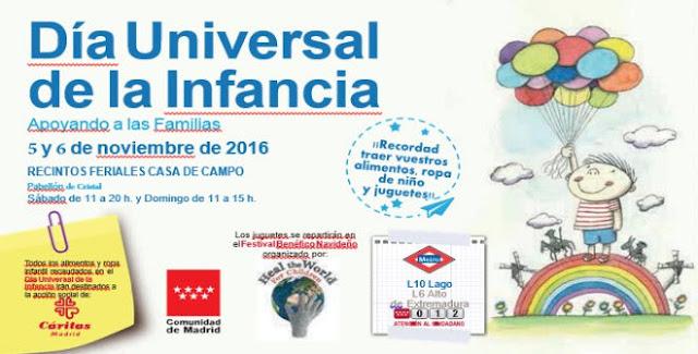 Día Universal de la Infancia 2016 en Madrid, 5 y 6 de noviembre