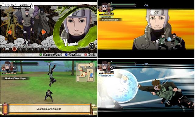 Naruto Shippuden : Ultimate Ninja Impact MOD Texture Naruto [Yamato] For PPSSPP Terbaru