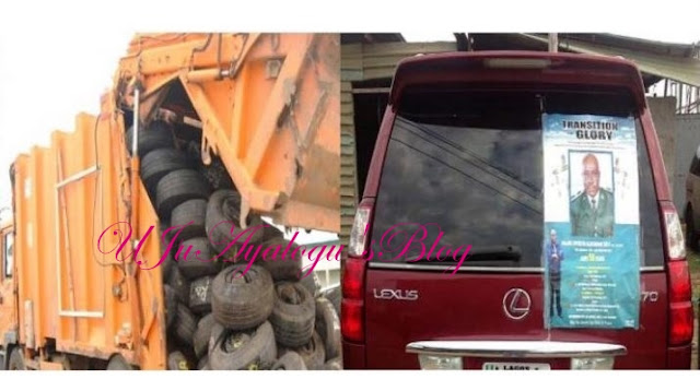 Smugglers Arrested After Disposing Truck With Tyres And A SUV