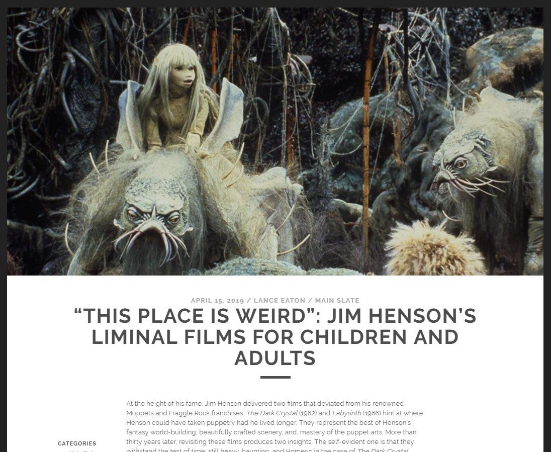 latest film essay puppets