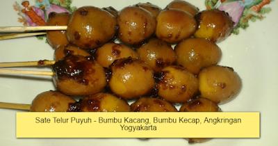 Sate Telur Puyuh - Bumbu Kacang, Bumbu Kecap, Angkringan Yogyakarta