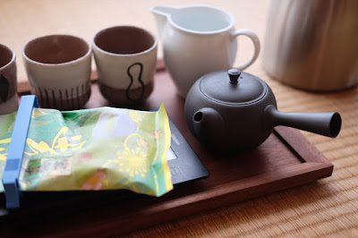 安曇野湧水で天龍村・中井侍の新茶も淹れてみました!