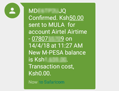 mpesa sms