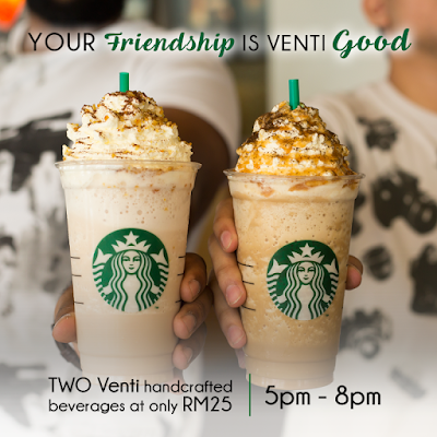 Starbucks Malaysia TWO VENTI beverages RM25