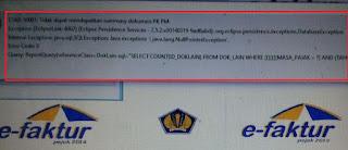 e-faktur error ETAX-50001 : Tidak Dapat Mendapatkan Summary Dokumen PK PM