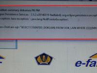 Solusi Error ETAX-50001 : Tidak Dapat Mendapatkan Summary Dokumen PK PM