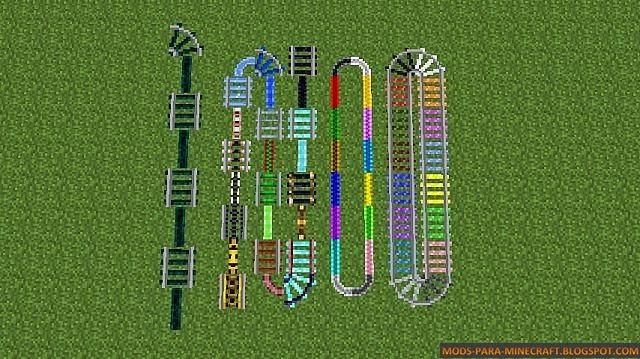 Minecraft expanded rails mod para minecraft 1 - Decoraciones para minecraft sin mods ...