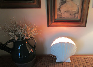 White Shell light on display-A-home decor
