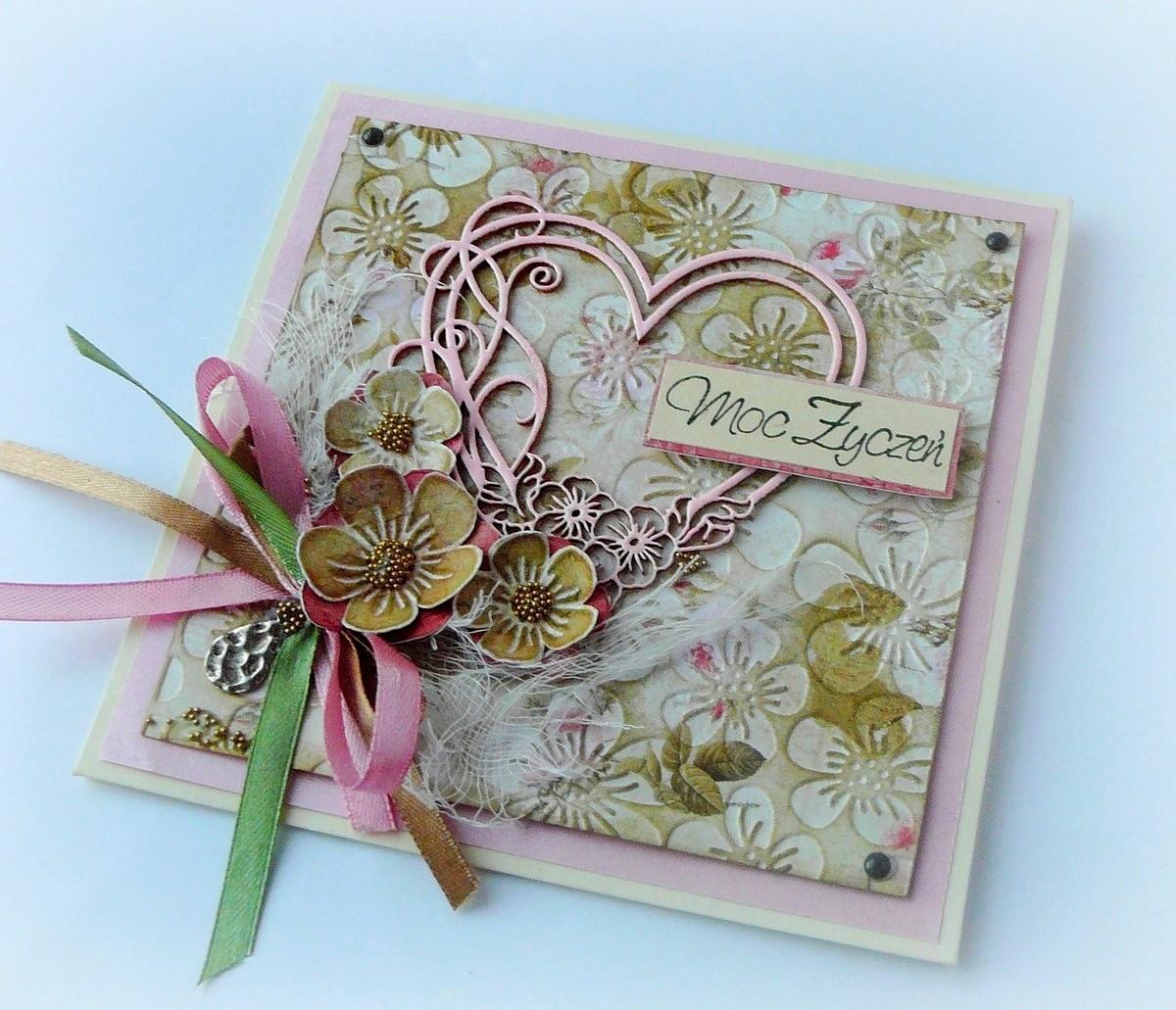 romantyczna kartka z sercem
