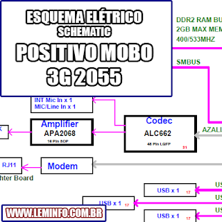 Esquema Elétrico Notebook Laptop Positivo Mobo 3G 2055 Manual de Serviço  Service Manual schematic Diagram Notebook Laptop Positivo Mobo 3G 2055    Esquematico Notebook Laptop Positivo Mobo 3G 2055