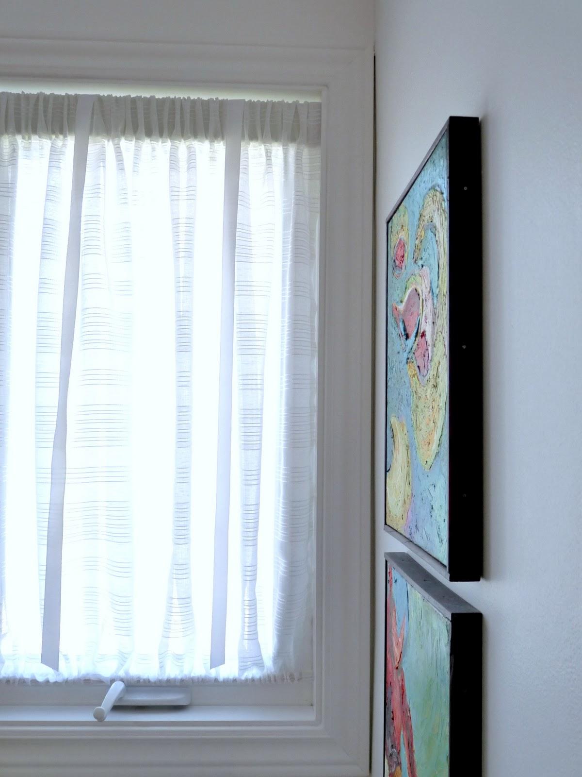 DIY Curtain for Awkward Window