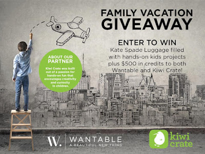 Enter to win the Family Vacation Giveaway.
