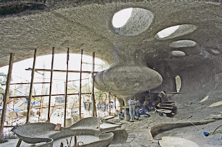 Shell house or Nautilus by Architect Javier Senosiain in Mexico