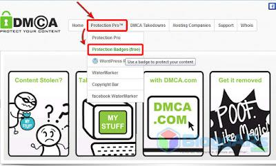 Memasang Badge Perlindungan Konten DMCA Gratis