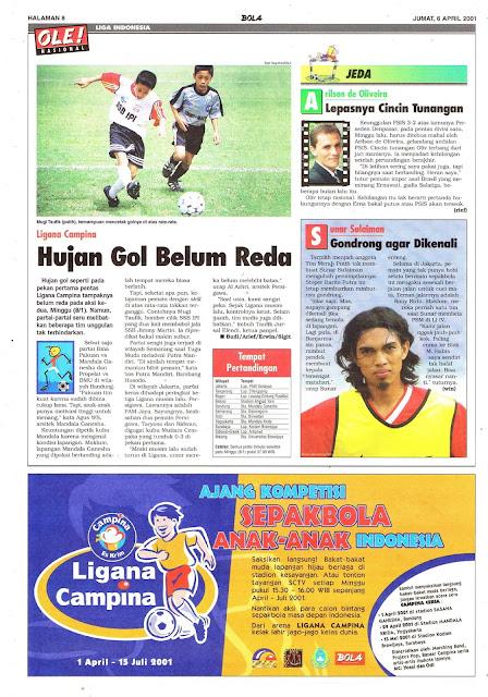 LIGANA CAMPINA 2001 HUJAN GOL BELUM REDA